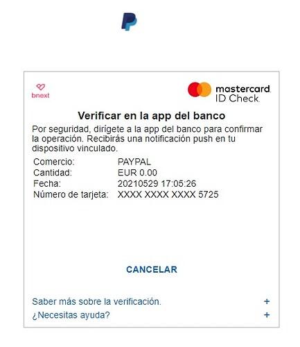 Validadación PayPal