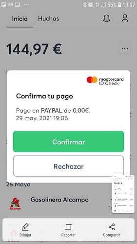 App confirmación de pago